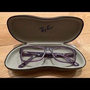Purple Rayband Glasses Frames